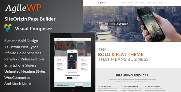 Agile - Multi-Purpose App Showcase WordPress Theme - Software Technology