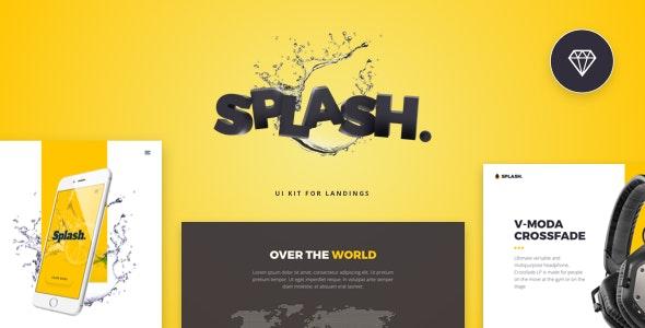 Splash UI Kit for Sketch - Sketch Templates