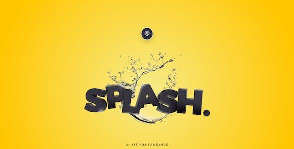 Splash UI Kit for Sketch