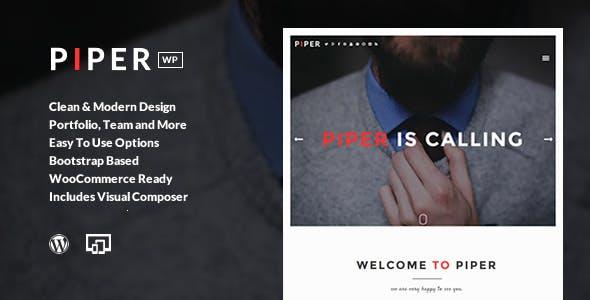 Piper - Creative Modern & Flexible Responsive Theme