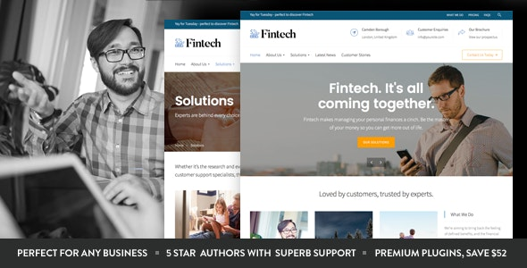 Fintech - Startup WordPress Theme - Business Corporate
