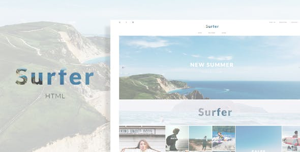 Surfer - eCommerce HTML Template
