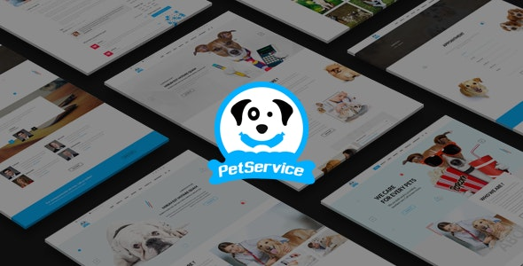 Pet Service - Modern PSD Template - Miscellaneous Photoshop
