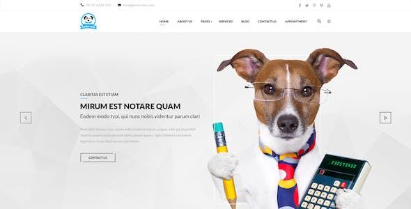 Pet Service - Modern PSD Template