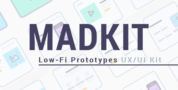 MadKit | Low-fi Prototypes UX/UI Kit - Creative Sketch