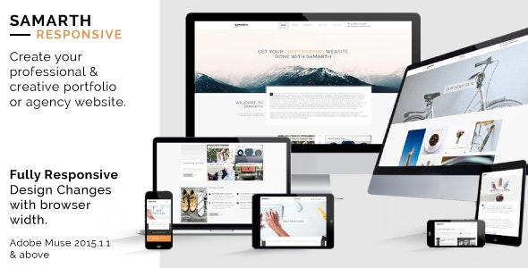 Samarth: Fully Responsive Creative Multipurpose Muse Theme