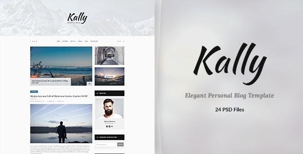 Kally - Personal Blog Template - Creative Photoshop