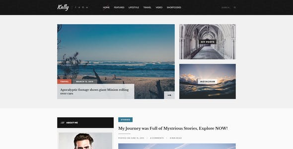 Kally - Personal Blog Template