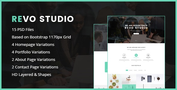Revo Studio - One Page PSD Template - Corporate PSD Templates