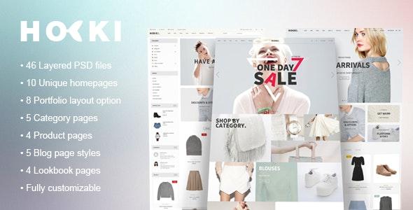 Hoki - eCommerce PSD Template - Retail Photoshop