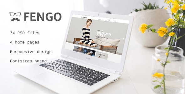 Fengo - Responsive eCommerce PSD Template - Retail Photoshop