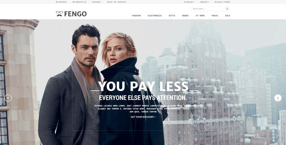 Fengo - Responsive eCommerce PSD Template
