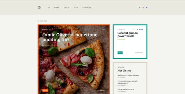 Sous Chef — Unique Clean PSD Template for Culinary Blog