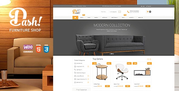 Dash - Handmade Furniture Marketplace Theme - WooCommerce eCommerce