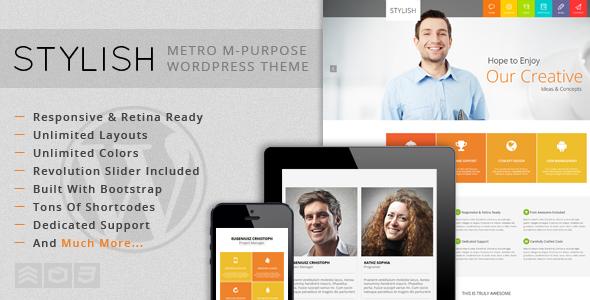 STYLISH - Metro Multi-Purpose WordPress Theme - Corporate WordPress