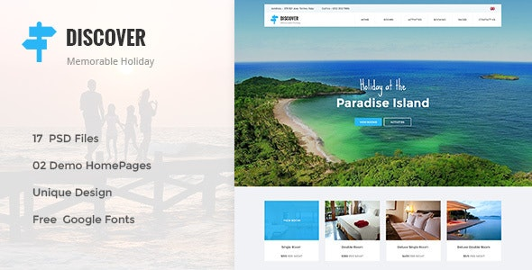 DISCOVER -  Countryside Hotel PSD Template - Miscellaneous PSD Templates