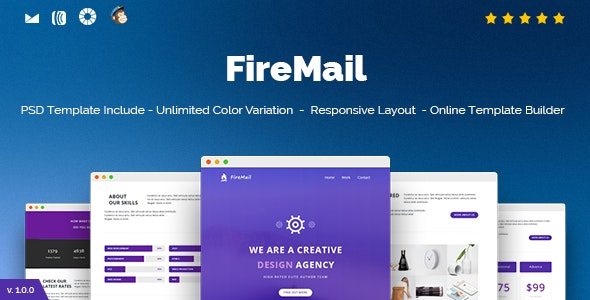 FireMail - Responsive Email + Online Template Builder - Newsletters Email Templates