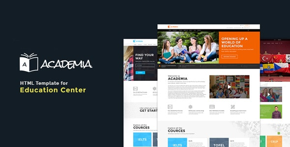 Education HTML Template - Academia - Nonprofit Site Templates