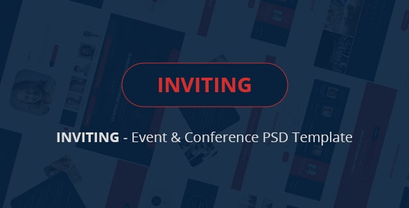 INVITING – Event & Conference PSD Template - Events Entertainment