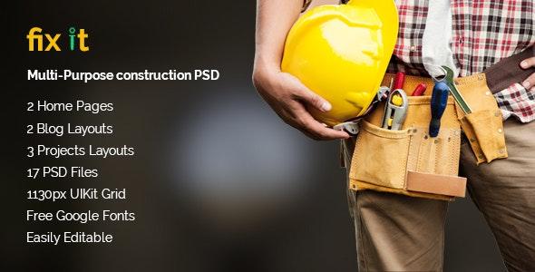 Fixit - Multipurpose Construction & Building PSD - Business Corporate