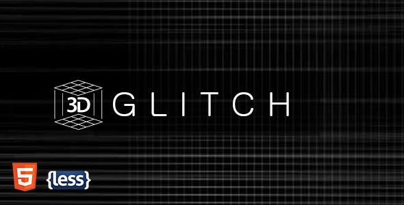 Glitch - Glitchy Animated Coming Soon Template
