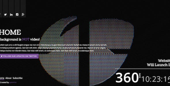 Glitch HTML Website Templates from ThemeForest