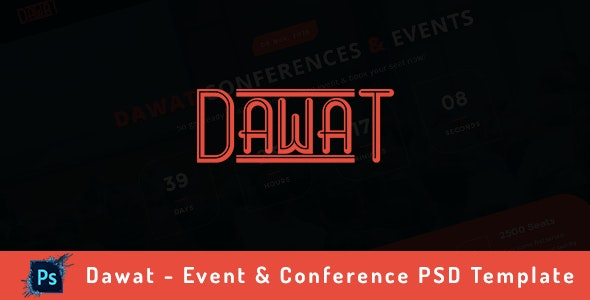 Dawat - Event & Conference PSD Template - Events Entertainment