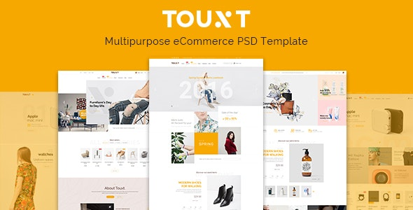 Touxt - Ecommerce PSD Template - Retail Photoshop