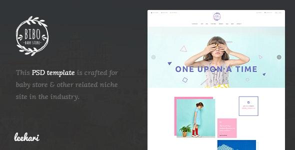 Bibo - Baby Store PSD Template - Children Retail