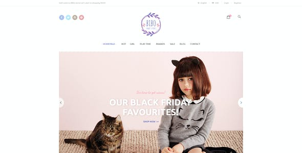 Bibo - Baby Store PSD Template
