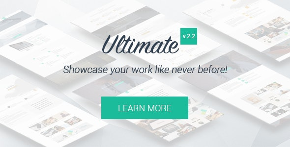 Ultimate - One Page HTML5 Portfolio Template - Portfolio Creative