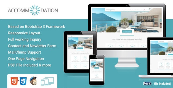 Accommodation Landing Page - Travel Retail