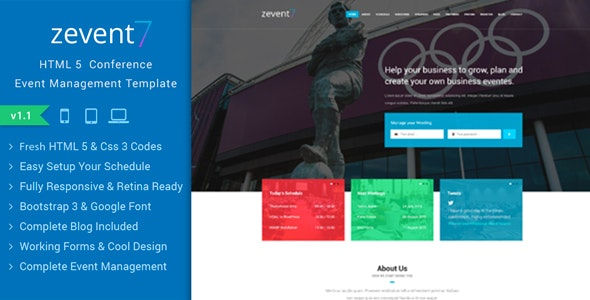 Zevent - Conference & Event Responsive Html Template - Events Entertainment