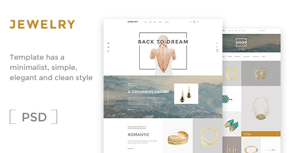 Jewelry- Ecommerce PSD Template - Shopping Retail