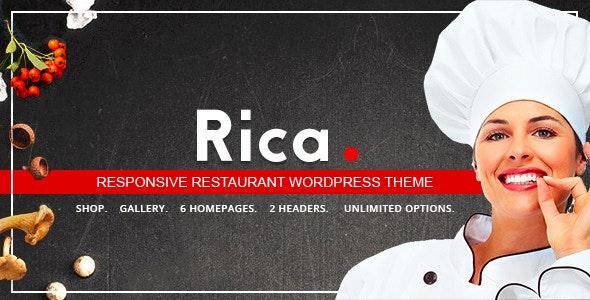 Rica - Responsive Restaurant WordPress Theme - Restaurants & Cafes Entertainment