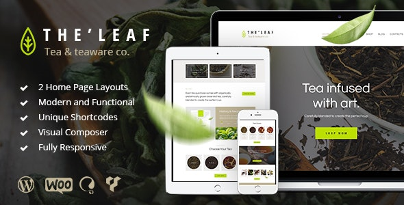TheLeaf - Tea Production Company & Online Coffee Shop WordPress Theme - Food Retail