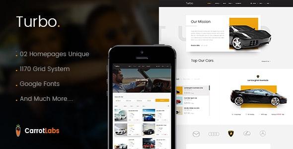 Turbo - Car Rental PSD Template - Photoshop UI Templates