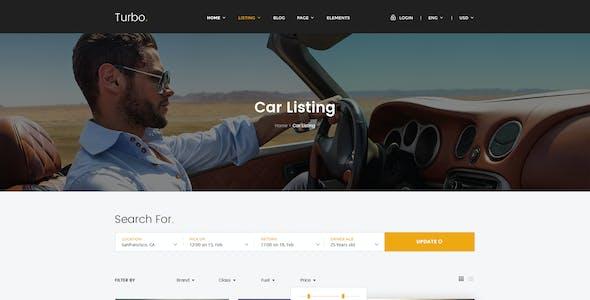 Turbo - Car Rental PSD Template