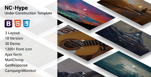 NC-Hype Under-Construction Template - Specialty Pages Site Templates