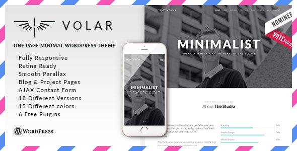 Volar - Responsive & Multipurpose WordPress Theme - Portfolio Creative