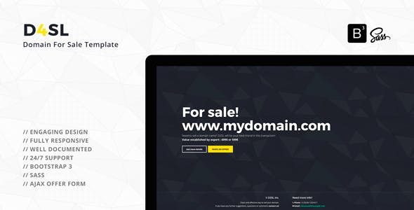 D4SL - Domain For Sale Template