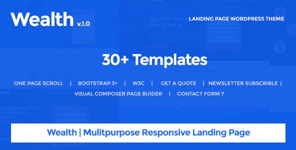 Wealth – Multi-Purpose Landing Page WordPress Theme