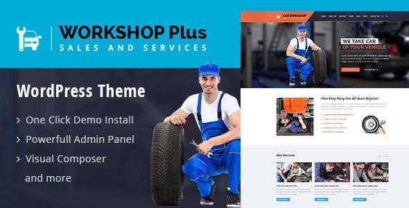 WorkshopPlus - WorkShop Car Autos Services WordPress Theme - WordPress