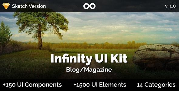 Infinity UI Kit - Blog/Magazine - Sketch - Sketch UI Templates