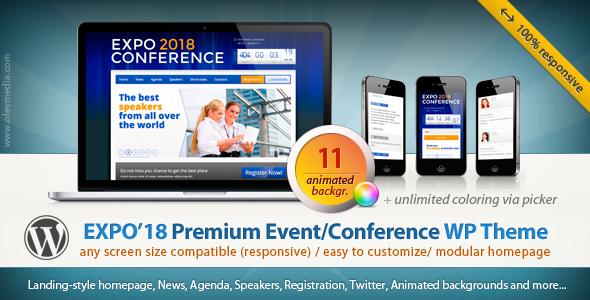 Expo18 Responsive Event Conference WordPress Theme