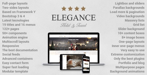 Elegance - Hotel And Rental Template - Travel Retail