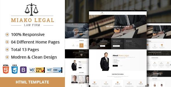 Miako Legal | Law Firm HTML5 Template - Business Corporate