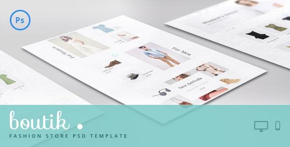 Boutik - Fashion Store PSD Template - Fashion Retail