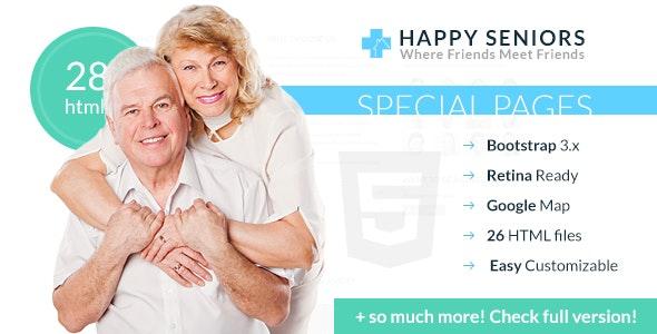Happy Seniors - Senior Care HTML Template - Health & Beauty Retail