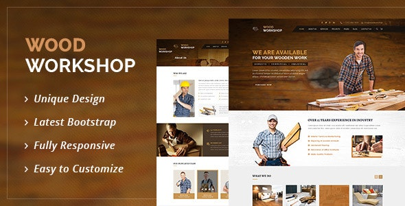 Wood Workshop - Carpenter and Craftman HTML Template - Business Corporate